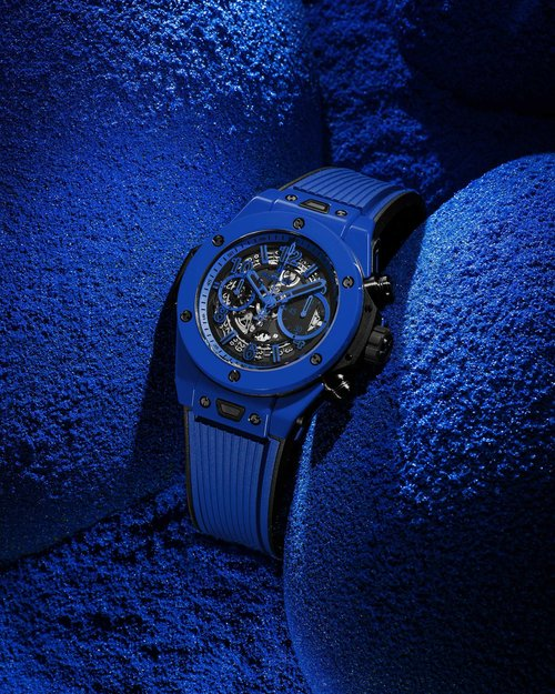 A production of brand content visuals for Hublot's social media, for the launch of two new watches.