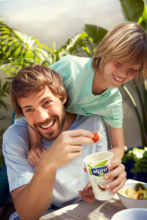 Lifestyle shopper campaign for Alpro